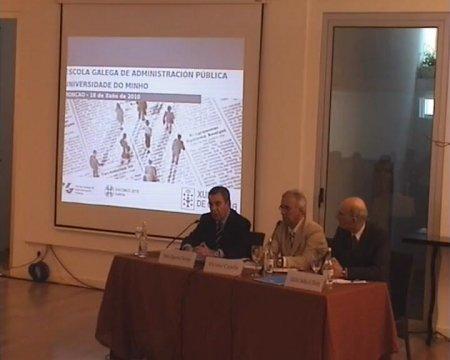 Clausura do seminario. Grabación lado mesa ponentes - Seminario luso-galaico de dereito local. Dereito do Urbanismo